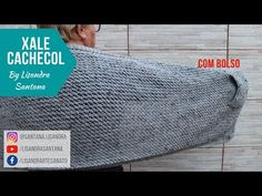 Xale Cachecol com Bolso em tricô - YouTube Diy Home Crafts, Youtube, Scarves, Hooded Scarf, Knitted Baby Blankets, Chunky Crochet, Scarf Patterns, Knit Shawls, Caps Hats