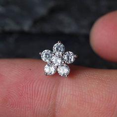 Flower Zircon Cartilage Earrings Helix Piercing Tragus Earrings Tragus Jewelry  #Piercing #SeptumRing #BodyModification #BodyJewelry #PiercedGirls #NippleRing #Pierced #NavelRing #BodyPiercing #JennySweety