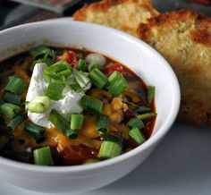 Vegetarian Chipotle Chili - perfect for fall