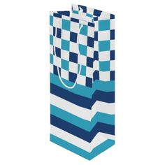 A beautiful gift #bag, perfect for a summer #gift. #marine #navy #zazzle