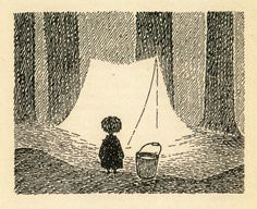 Illustration from 'Moominvalley in November' by Tove Jansson Tove Jansson, Pen Art, Illustrations And Posters, Children's Book Illustration, Art Reference, Childrens Books, Inktober, Book Art, Character Design