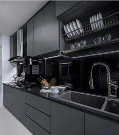 """3,316 curtidas, 31 comentários - Inspiração e decoração (@inspiracaoedecoracao) no Instagram: """"Cozinha all black"""""""