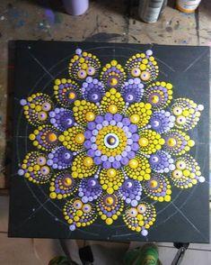 Image may contain: 1 person Mandala Art, Mandala Canvas, Mandala Rocks, Mandala Painting, Mandala Pattern, Mandala Design, Rock Painting Patterns, Dot Art Painting, Pebble Painting