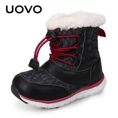 c36fdb28a592 Find More Boots Information about UOVO 2018 Snow Boots Kids Winter Boots  Boys Waterproof Shoes Fashion