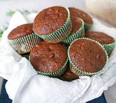 Chocolate zucchini muffin recipe #recipe #muffin