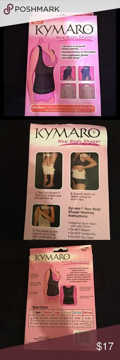 🎀Kimora New Body Shaper🎀 🦋NWOT Kymaro Health and Beauty/ Spa Essential 90% Polyester 10% Spandex taken out of box just for pictures. NEW this is for slimming your waist with bust lifter support. Kymaro Intimates & Sleepwear Shapewear