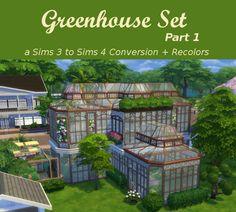 Sims 4 CC's - The Best: Greenhouse Set - Part 1 by Leander Belgraves