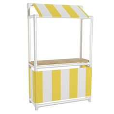 PVC Lemonade Stand--so cute!! I could see this being altered slightly to make a small puppet theater, too!