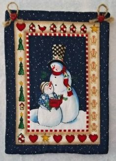 Small Quilted Wall Hanging by PatsysPatchwork on Etsy, $10.00