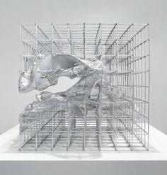 wblut: Alois Kronschlaeger: Silver Cube via Conceptual Model Architecture, Grid Architecture, Architecture Student, Architecture Diagrams, Conceptual Design, Architecture Portfolio, Chalet Ski, 3d Modelle, Arch Model