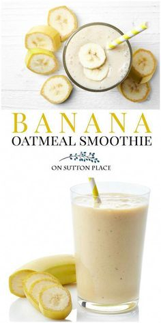 Make this banana oatmeal smoothie with almond milk for an easy breakfast or snack. Perfect for healthy eating and weight loss. #healthyrecipes