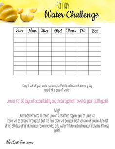 Join us for 60 days of accountability and encouragement towards your health goals! Why? Likeminded friends to cheer you on, giveaways, and a happier healthier YOU 60 days later! FREE water tracker printable included!