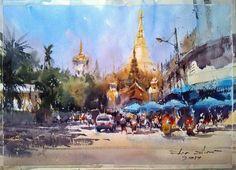Direck Kingnok,  Shwedagon Pagoda