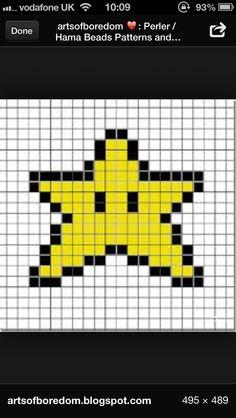 #hama beads #star #mario kart