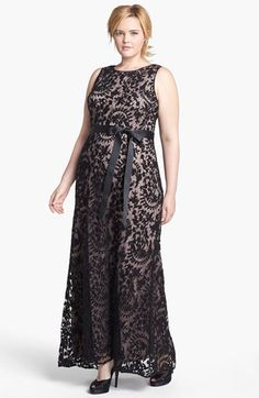 Adrianna Papell Lace Mermaid Gown (Plus Size) | Nordstrom