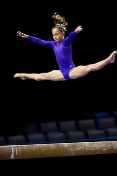 Ragan Smith (United States) on balance beam at the 2013 P&G Championships