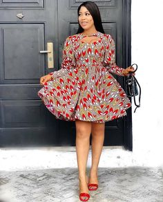 50 Pictures - Stunning Ankara Fashion Dresses We Are Currently Vibing With 27 African Lace Styles, Ankara Short Gown Styles, Beautiful Ankara Styles, Latest Ankara Styles, Short Gowns, African Fashion Ankara, African Print Fashion, African Dress, Fashion Prints