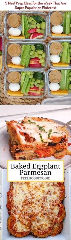 Follow these healthy meal prep ideas on Sunday nights to prepare for the week ahead and avoid last-minute cooking disasters. #easyfoodrecipes #healthycookingideas,healthyrecipes,saladrecipes,healthymeals,easyrecipes,easyhealthyrecipes,simplerecipes,bestrecipes,cookinglightrecipes,quickeasymeals,quickhealthymeals,healthymealideas,goodrecipes,healthysaladrecipes,easyfoodrecipes,quickeasyrecipes Baked Eggplant, Eggplant Parmesan, Healthy Meal Prep, Healthy Cooking, Pinterest Healthy Recipes, Hatian Food, Talipia Recipes, Dosa Recipe, Baking Recipes