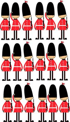 Queens Guards Toy Soldier Wall Stickers - Not on the High Street