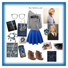 """""""Ravenclaw!!"""" by kawaiivalen ❤ liked on Polyvore featuring Dolce Vita, Linda Farrow, Dorothy Perkins and Luna"""