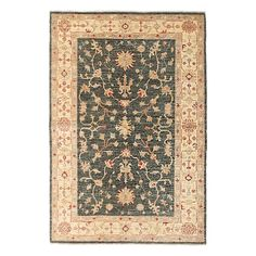 """Oushak Collection Oriental Rug, 4'1"""" x 6'"""