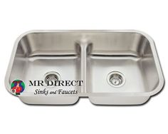 One Bowl Stainless Steel Kitchen Sinks Double kitchen sink one large side and one smaller my favorite undermount stainless steel double bowl low divide kitchen sink by mr direct http workwithnaturefo