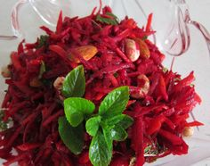 Raw beetroot and carrot salad