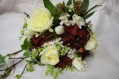 rustic cream and burgany wedding bouquets | ... Magician: Late Winter Early Spring Wedding Bouquet in Ivory & Claret