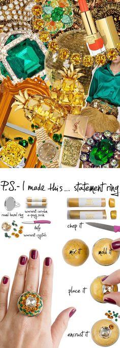 P.S.-I made this...Statement Ring with @Swarovski #PSIMADETHIS #DIY