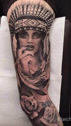 80 Fotos de tatuagens masculinas no braço   TopTatuagens Tattoos Masculinas, Forarm Tattoos, King Tattoos, Badass Tattoos, Sleeve Tattoos, Tattoos For Guys, Tribal Tattoos Native American, Native Tattoos, Indian Women Tattoo