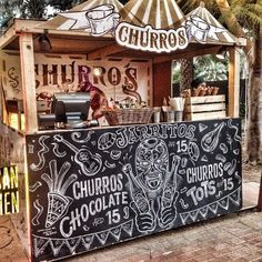 Churros bar - will SICC allow? Note to V: The yummy coconut ice-cream stall near Esplanade (where we lent that random guy 2 bucks) may also do events