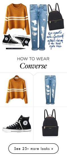 """Autumn"" by supersquirrelgirlq on Polyvore featuring Frame Denim, Converse, Henri Bendel and Bobbi Brown Cosmetics"