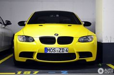 Frozen Yellow E92 BMW M3 Spotted In Germany    Http://www.bmwblog.com/2014/05/17/frozen Yellow E92 Bmw M3 Spotted Germany/