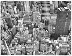 Stunning Hand draw New York by Pierre Antoine Dubois  http://pierrepierrepierre.com