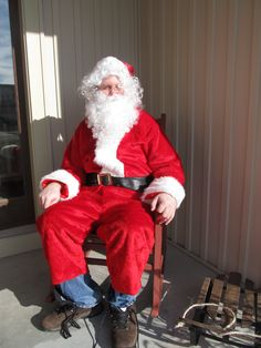 On my 57 list this year, was to sit on Santa's lap.  I found the nicest Santa. (Greg Nesseth)