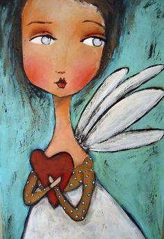 Guard your heart mixed media by Patti Ballard