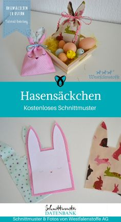 Sew for Easter / 23 freebies & free sewing patterns - Ostern Easy Sewing Projects, Sewing Projects For Beginners, Sewing Hacks, Sewing Tips, Sewing Patterns Free, Free Sewing, Free Pattern, Purse Patterns, Diy Cadeau Noel