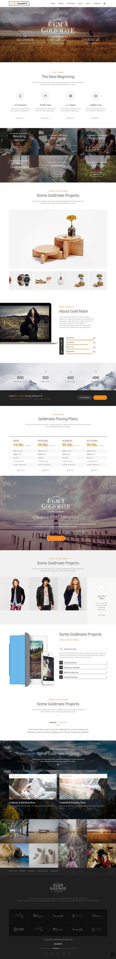 GoldMate is an creative #Bootstrap HTML Template for multipurpose #business #website with 7 stunning homepage layouts download now➯ https://themeforest.net/item/goldmate-creative-multipurpose-html-template/16653599?ref=Datasata