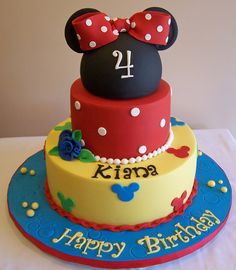 Minnie Mouse inspired cake by cakespace - Beth (Chantilly Cake Designs), via Flickr