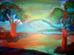 Abstract Trees  Acrylic  Artist  Joseph Chubb