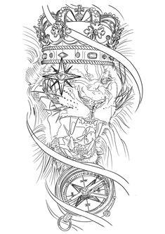 Chest Tattoo Stencils, Tattoo Stencil Designs, Half Sleeve Tattoo Stencils, Card Tattoo Designs, Half Sleeve Tattoos Drawings, Sketch Style Tattoos, Half Sleeve Tattoos For Guys, Tattoo Design Drawings, Tattoo Sleeve Designs