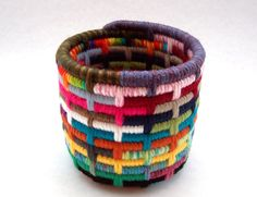 Bits and Pieces-Colorful Yarn Coiled Pencil Holder. $22.00, via Etsy.