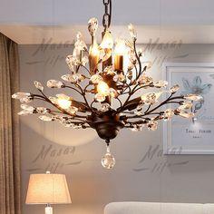 Colgante de techo vintage luces Cristal Lámpara de LED Luminaria Retro Metal Moderno | Hogar y jardín, Lámparas, luces y ventiladores de techo, Candelabros y lámparas de techo | eBay!