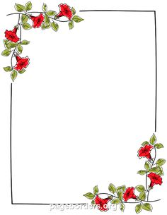 Printable floral border. Use the border in Microsoft Word or other programs for creating flyers, invitations, and other printables. Free GIF, JPG, PDF, and PNG downloads at http://pageborders.org/download/floral-border/