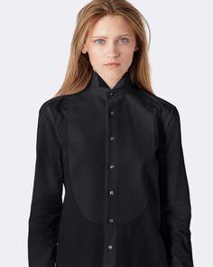 Silk-Bib Cotton Shirt