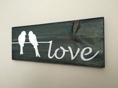 Perfect decoration for any room of your home! It would also make a wonderful wedding or anniversary gift for a couple!  Dimensions of this board measure approximately 19in x 7.25in. There is a hanging assembly on the back.  Please note that your Wall Decor may vary slightly from