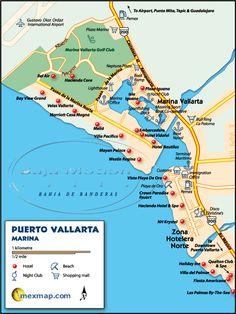 Puerto Vallarta Mexico Maps Vacation List, Mexico Vacation, Vacation Places, Mexico Travel, Puerto Vallarta, Vallarta Mexico, Travel Sights, Cruise Destinations, Romantic Vacations