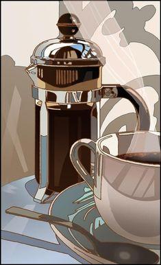 Coffee ⓒ Hyman Studio I Love Coffee, Coffee Break, My Coffee, Morning Coffee, Espresso Coffee, Coffee Cafe, Coffee Shop, Coffee Lovers, Café Chocolate