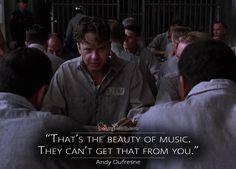 The Shawshank Redemption Quotes - MagicalQuote Most Famous Quotes, Famous Movie Quotes, Shawshank Redemption Quotes, Shawshank Quotes, Andy Dufresne, Tumblr Quotes, Life Quotes, Die Verurteilten, Best Movie Lines