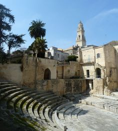The Roman Theatre, Lecce (Puglia, Italy) Places In Italy, Places To Visit, Bari, Lecce Italy, Architecture Antique, Best Of Italy, Art Nouveau, Regions Of Italy, Voyage Europe
